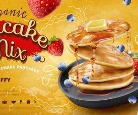 Pancake mix poster template vector 01