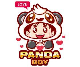 Panda cartoon illustration image t-shirt pattern vector