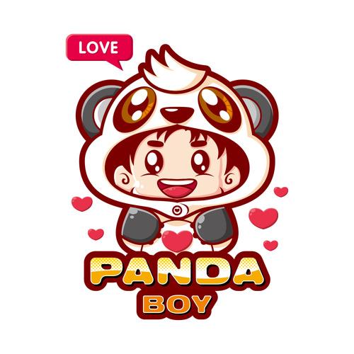 Panda cartoon illustration image t shirt pattern vector