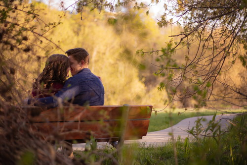 Park Bench Lovers Dating Stock Photo Free Download