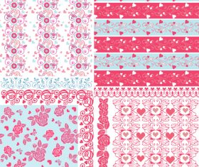 Pink heart seamless pattern background vector