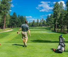 Playing Golf Stock Photo 02