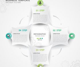 Polygon presentation infographic template vector 01