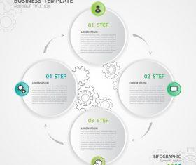 Polygon presentation infographic template vector 02
