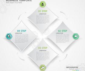 Polygon presentation infographic template vector 03