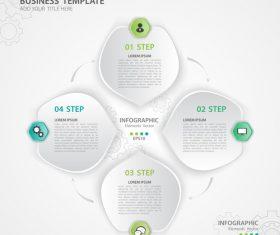Polygon presentation infographic template vector 05