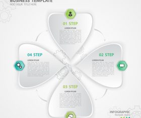 Polygon presentation infographic template vector 06