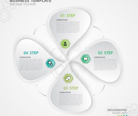 Polygon presentation infographic template vector 07
