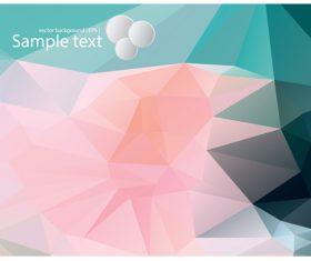Polygonal geometric shape flowers design vector 01