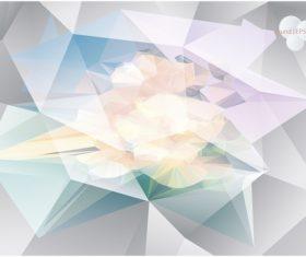 Polygonal geometric shape flowers design vector 04