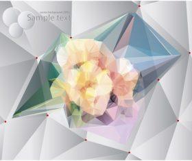 Polygonal geometric shape flowers design vector 08