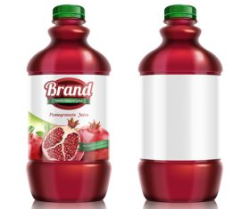 Pomegranate juice package design vector