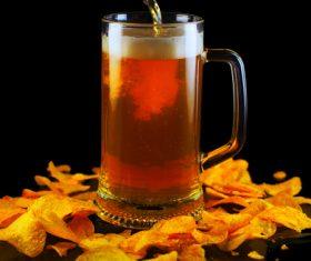 Potato chips beer snack Stock Photo 02