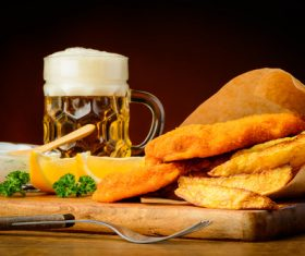 Potato chips beer snack Stock Photo 04