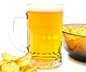 Potato chips beer snack Stock Photo 06