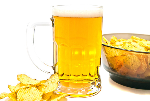 Potato chips beer snack Stock Photo 06