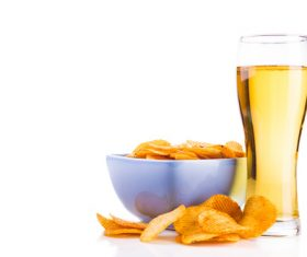 Potato chips beer snack Stock Photo 07