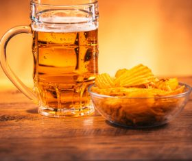 Potato chips beer snack Stock Photo 08