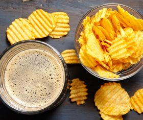 Potato chips beer snack Stock Photo 10