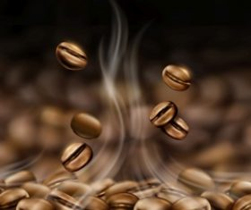 Premium black canned coffee ads with beans background in 3d illustration 03