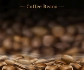 Premium black canned coffee ads with beans background in 3d illustration 04