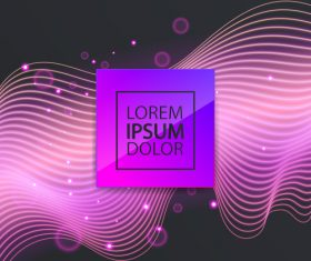 Purple abstract lines modern background vector 01
