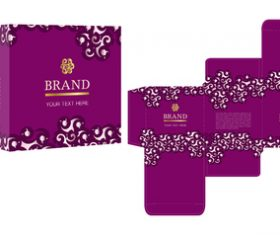 Purple package box with cosmetic vector