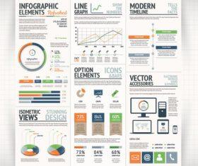 Qrange green infographic vector