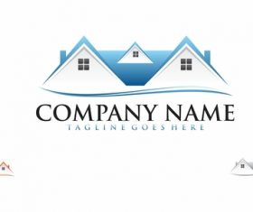 Real estate design logo vectors 03