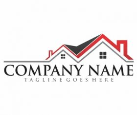 Real estate design logo vectors 04