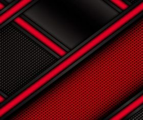 Red with black metal background design vectors 01