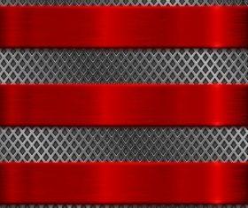 Red with black metal background design vectors 02