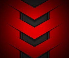 Red with black metal background design vectors 03
