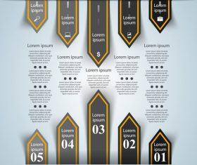 Road infographic template vectors material 01