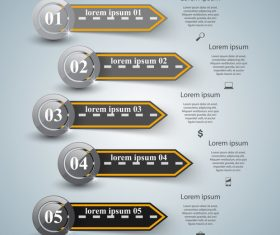 Road infographic template vectors material 05