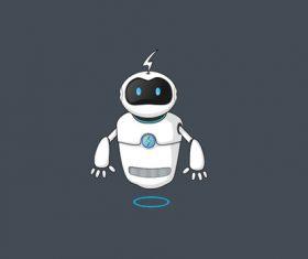 Robot cartoon image design vector