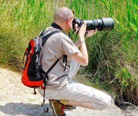Shooting natural scenery with telephoto lens Stock Photo