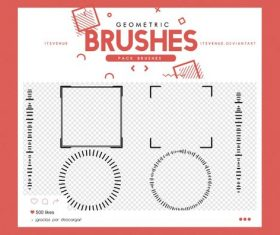 Simple Geometric Photoshop Brushes