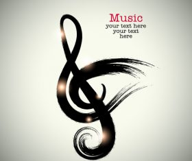 Simple music background design vector 01