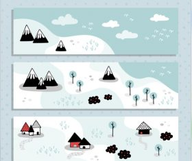 Snow sky blue background vector