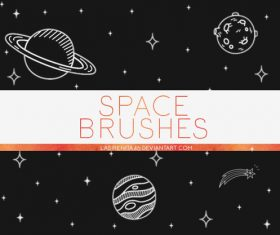 Space Hand Drawn Photoshop Brushes