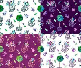 Spring garden vector seamless pattern