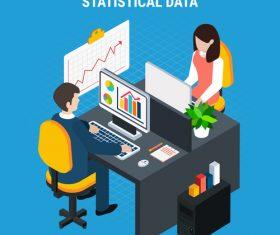 Statistical data isometric vector