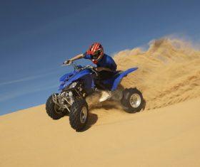 Stock Photo All terrain vehicle on the desert 01
