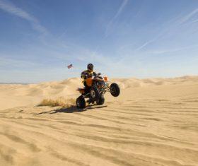Stock Photo All terrain vehicle on the desert 02
