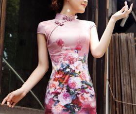 Stock Photo Asian cheongsam temperament beauty