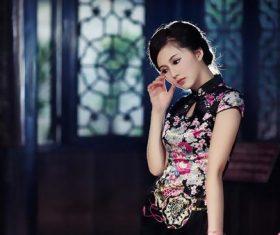 Stock Photo Asian temperament noble cheongsam beauty
