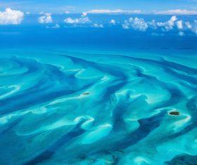 Stock Photo Bahamas blue ocean 02