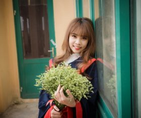 Stock Photo Girl graduation photo