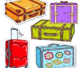 Suitcase sticker vector